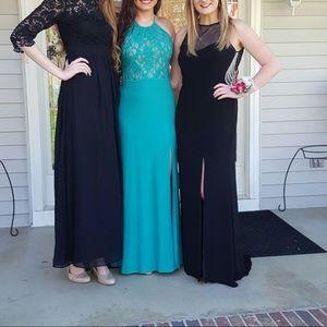 Kelly green prom dress